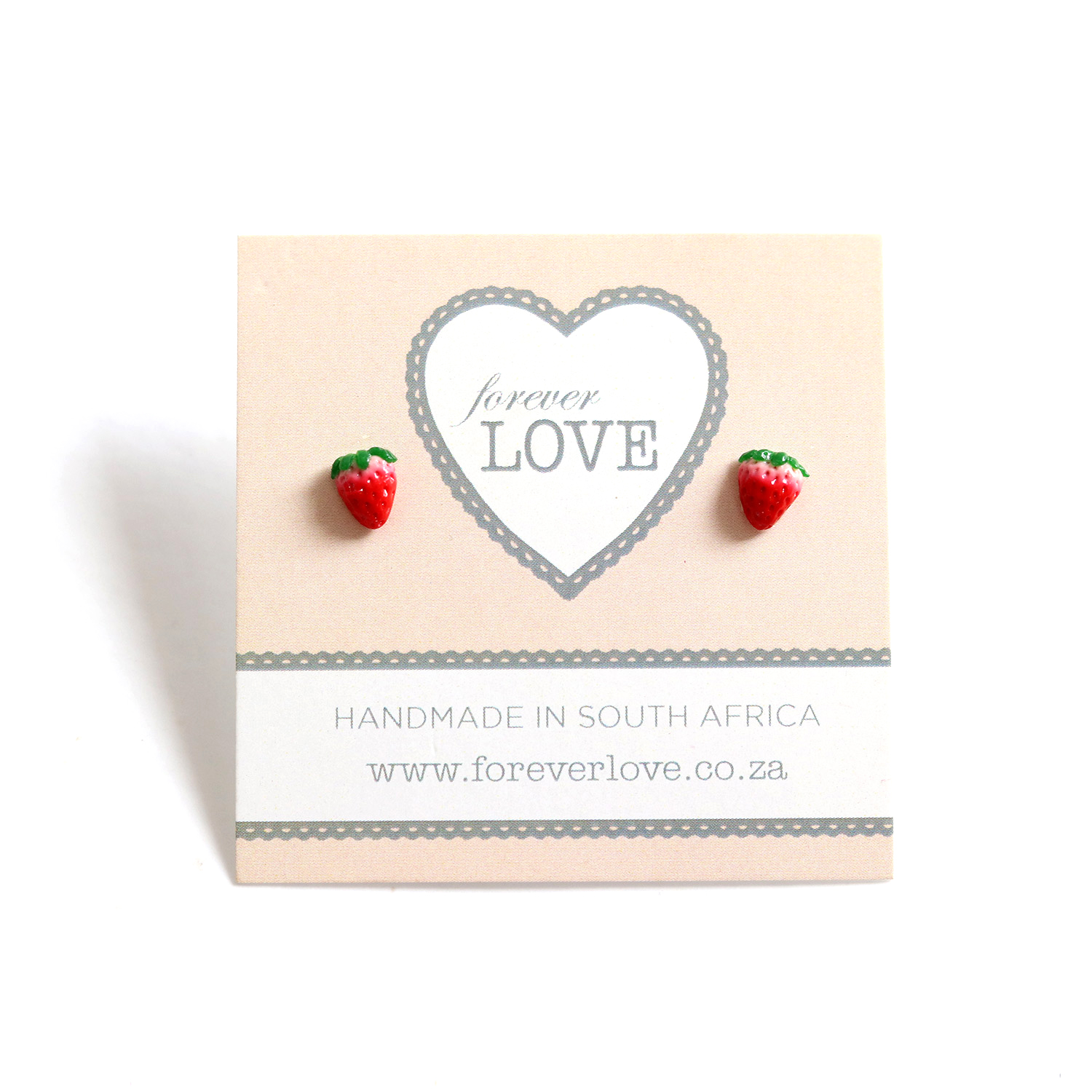 These totally adorable juicy strawberry studs and unique handmade from polymer clay.  Kindly note that due to their handmade nature, there will be slight differences.