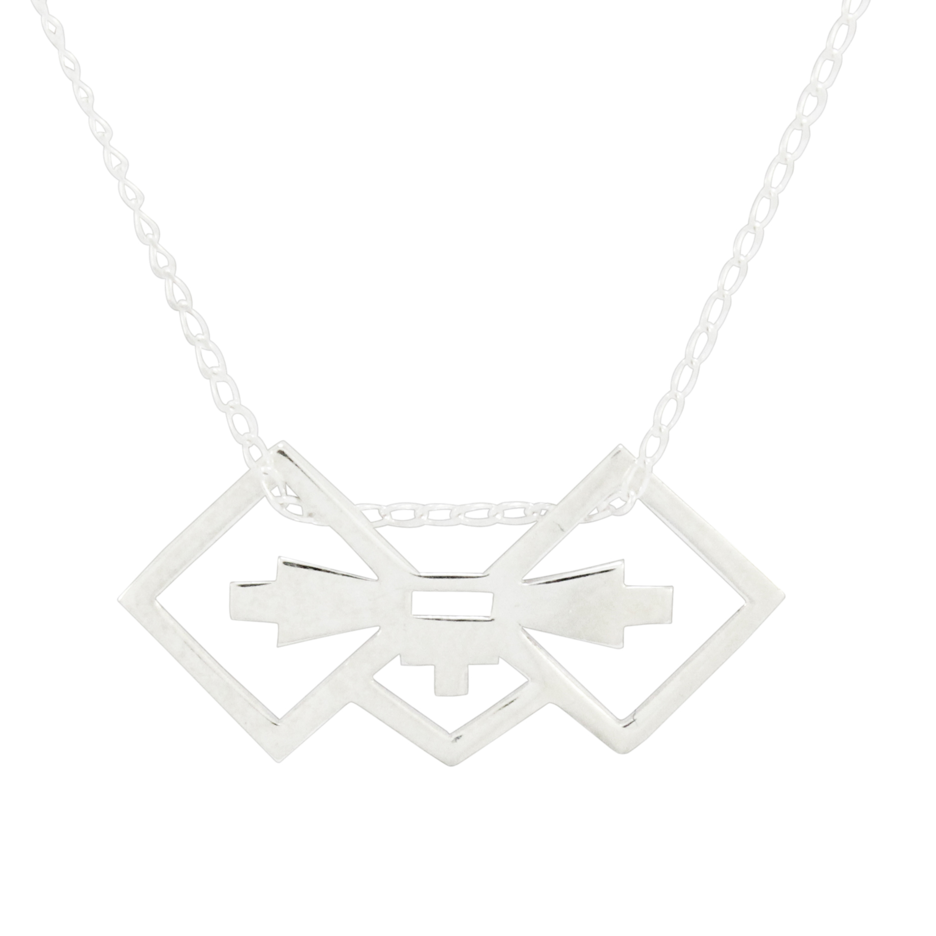 Silver Ndebele Bow Necklace