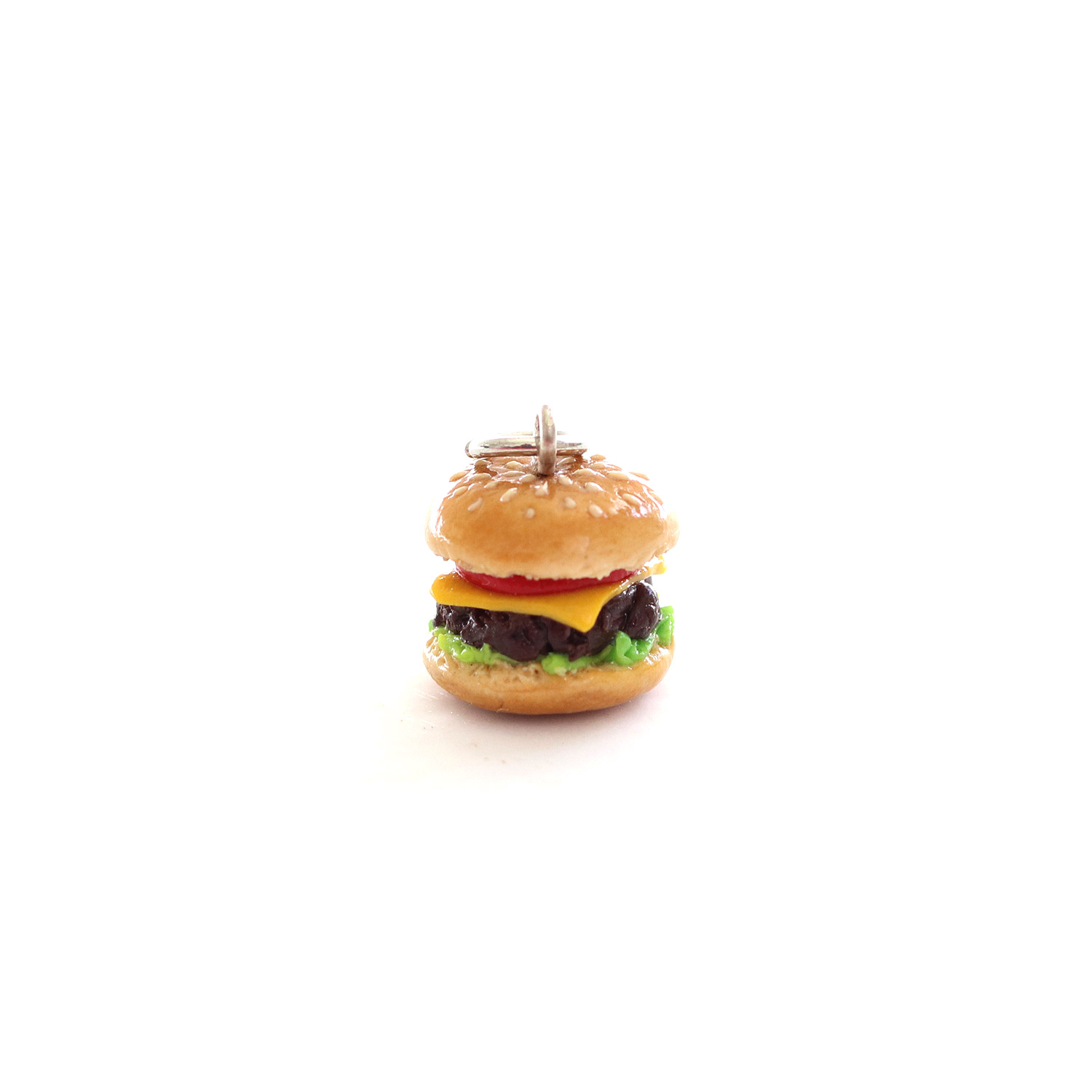 Hamburger Charm/ Necklace