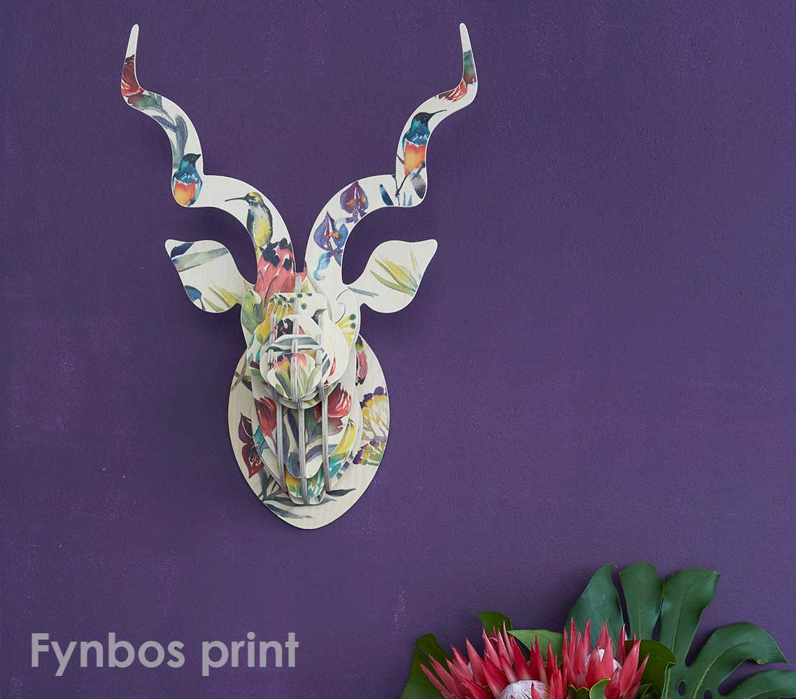 KUDU with Artist Print - Fynbos Sugarbirds and Proteas