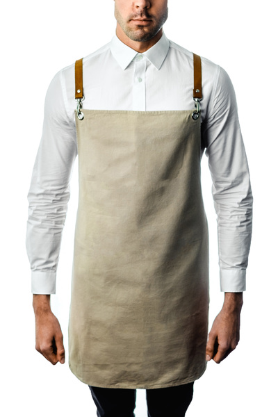 100% Cotton Canvas Aprons with Genuine Leather Straps