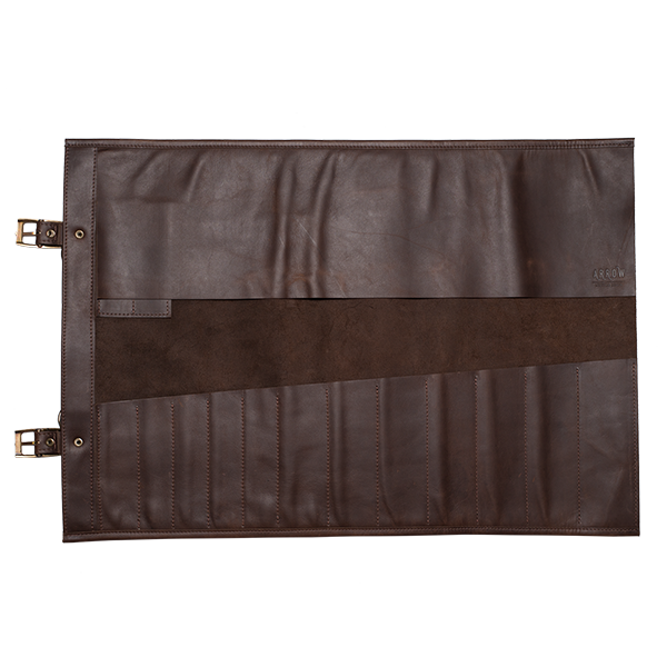 KNIFE ROLL BAG XL  The XL version of the very popular Knife Roll Bag. Featuring 14 slots for knives and extras, as well as an easy-to-carry handle and shoulder strap.  SIZE: 65cm wide x 45cm high