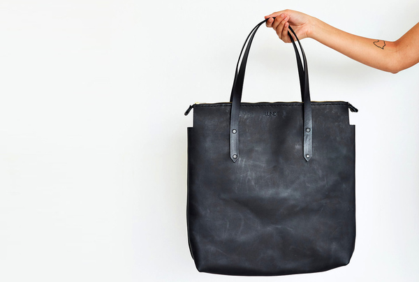 Long Shopper Bag - Charcoal
