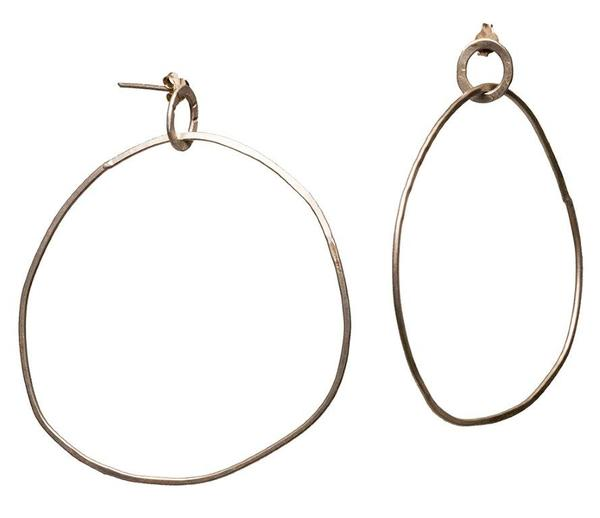 hoops with studds  55mm diameter / 6.7 g sterling silver  available in brass or copper