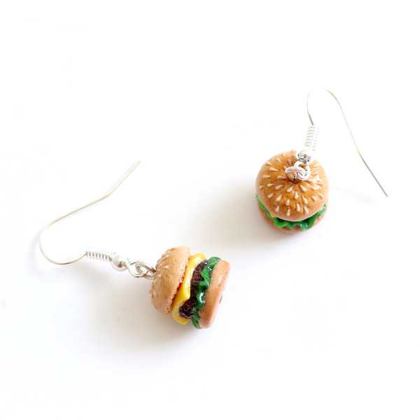 Totally adorable and unique handmade from polymer clay; each sesame seed carefully placed by hand.
