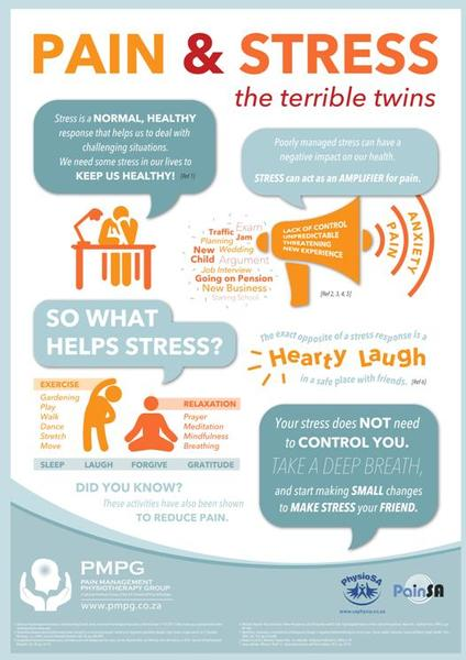 """Pain & Stress - The terrible twins"" - A2 and A3 posters"