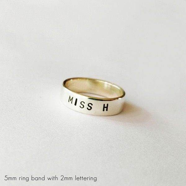 PUNCH Rings are hand stamped on a brass, copper or silver. 