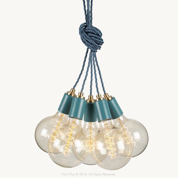 We've launched a new colour range of Signature Cluster Pendants that come in Stone Grey, Winter Blush, Misty Mint, Harbour Teal andWhite. They're unique with their twisted cord and machined Brass detailing.  The light is100% made and assembled in Cape Town.  Note: Light bulbs are not included and can be chosenhere  Please allow 1 - 2 working days for the order to be completed and 3 working days for delivery. We will be in touch as soon as the order has been placed and payment received.