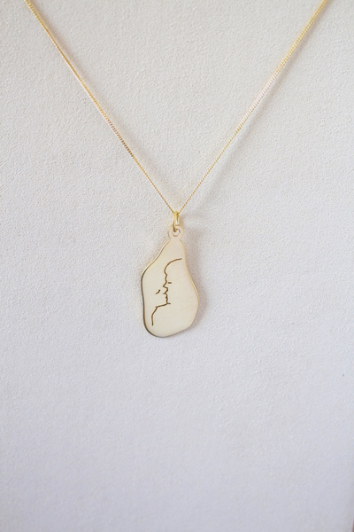 Kiss Me Hard Before You Go Necklace