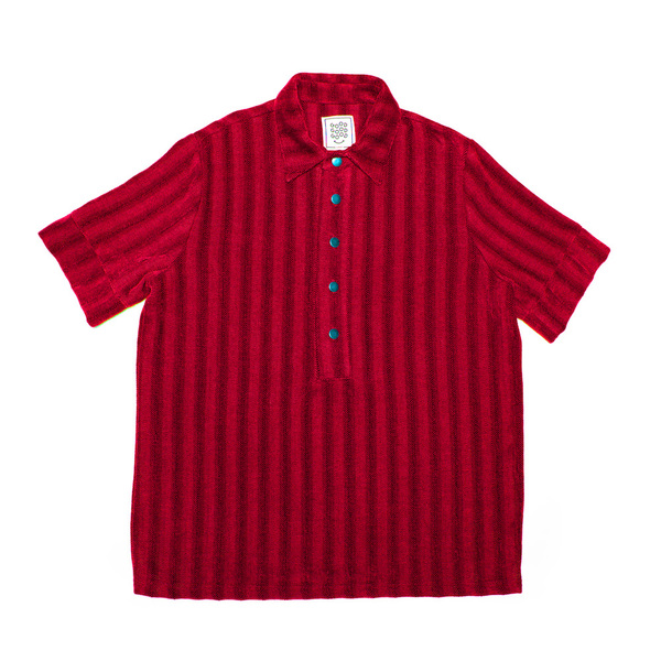 Polo Shirt - Red Herringbone