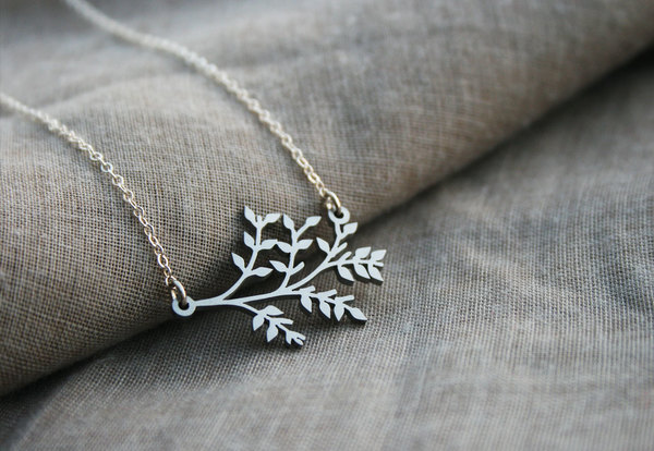 Sterling silver chain with stainless steel pendant.  Botany isthescientificstudy of the physiology, structure, genetics, ecology, distribution, classification, and economic importance of plants.