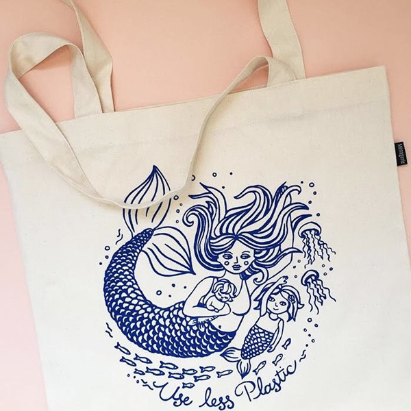 Mermaid Mama Tote Bag