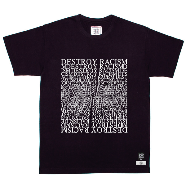 Destroy Racism - Navy Box T-Shirt - Donate Food to South Africans in Need!