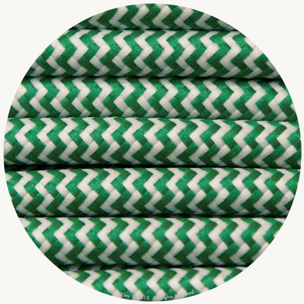 Zigzag Moss & Ivory Fabric Cable