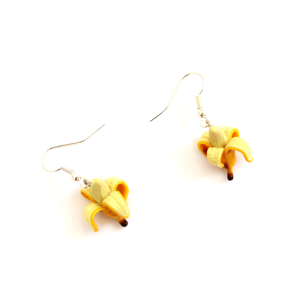 Banana Polymer Clay Dangly Earrings