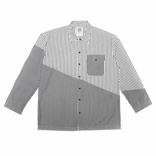 Resort Shirt - Diagonal Split - Charcoal