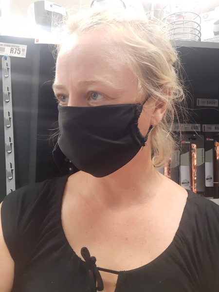 Set of 3 Black Face Masks made by women in the local communities around Stellenbosch. Keep it simple with these black masks during the time of COVID-19. 