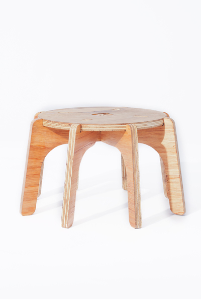 Cheeky and sturdy 8-legged stool. Its deliberate low centre of gravity will fully support the youngest in your pack. Whether they are sitting or standing on the SPIDI, this cleverly designed stool will not easily tip over. So share special family time by baking a cake together... the low-riding-Arachnid will afford your rug-rats some additional height to reach the countertop (and even the washing basin afterwards!).
