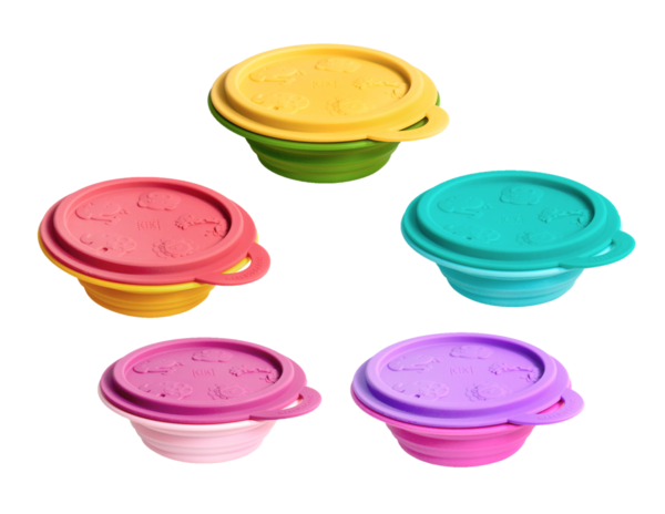Perfect for use at home or on-the-go! These collapsible space saving containers are fun and convenient! 