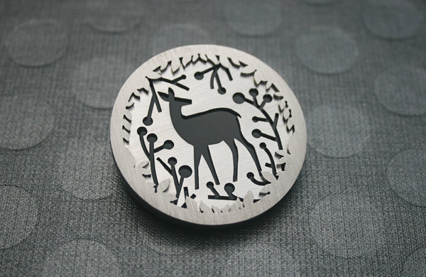 Deer & Berries Brooch