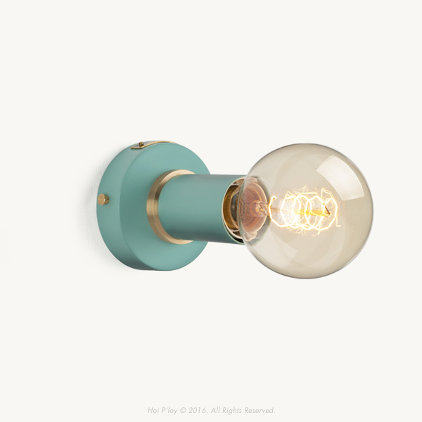 Misty Mint Simple Wall Sconce