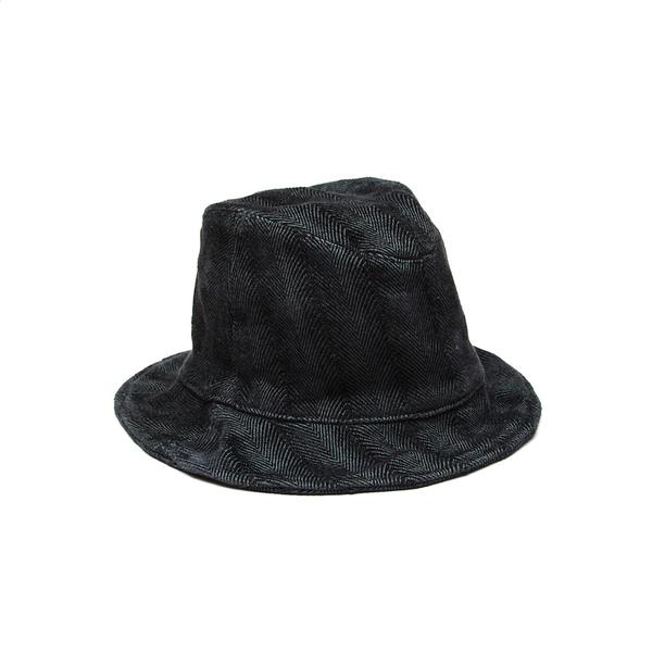 Hoedjie Bucket Hat - Charcoal Herringbone