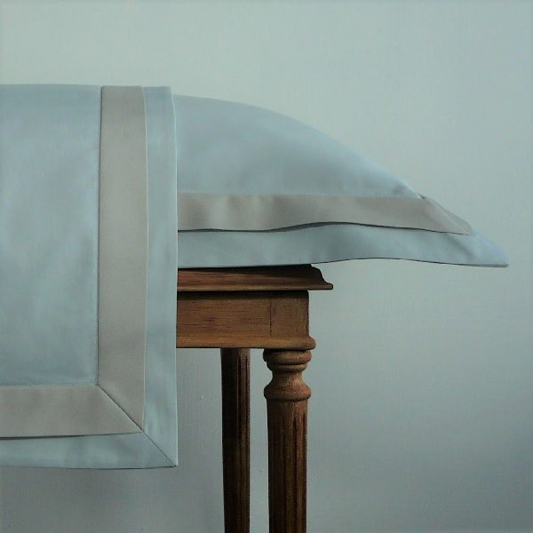 Signature Collection - Double Oxford Pillowcases (2) - Oyster on Breeze