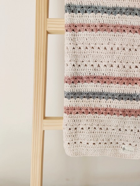 The Classic Blanket (Blush & Grey)