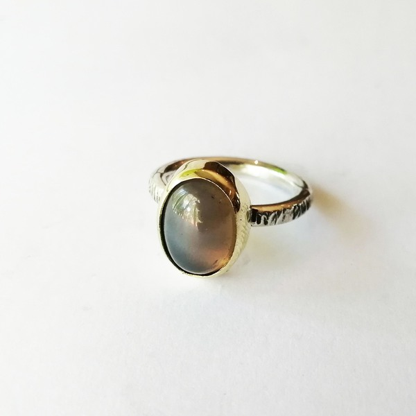 SUNSHINE STONE BEZEL Ring with Agate