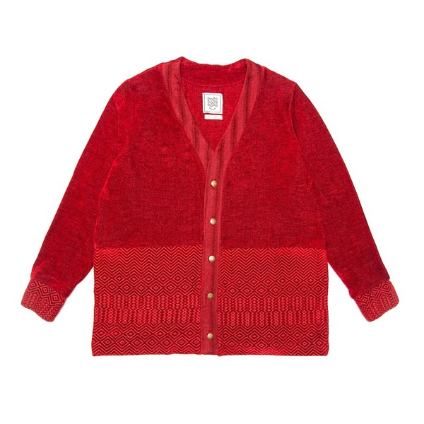 Cardigan - Red Kuba Zag