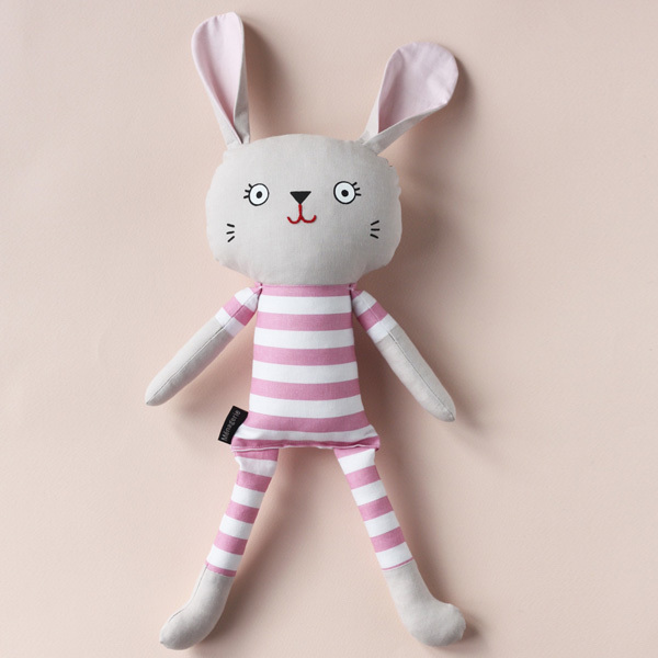 Pyjama Bunnies are friendly companions from playtime to sleeptime! They are available in a wide range of limited edition fabrics and will steal your heart with their kooky smile. Pyjama Bunnies are safe for little ones as they have no loose parts. That makes them the perfect gift for an expectant mama or the  little hooligans in your life.
