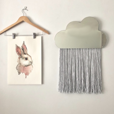 The Tiger Lily Cloud Mirror is a sweet addition to the modern nursery. The mirror is accessorised with handmade bamboo tassels and available in all standard shades as well as the option of custom colours.