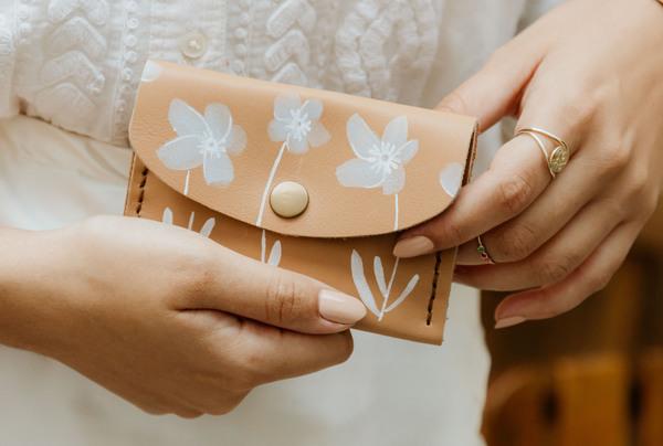 Mini purse - delphinium