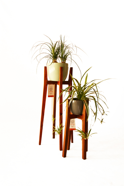 Pot plant stand manufactured in solid Kiaat, available at a height of either 560mm or 860mm