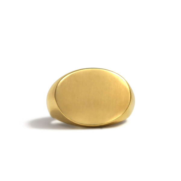 Oval Oblong Signet Ring
