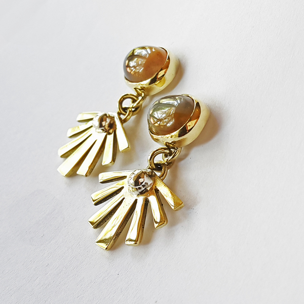 SUNSHINE STONE Stud Earrings