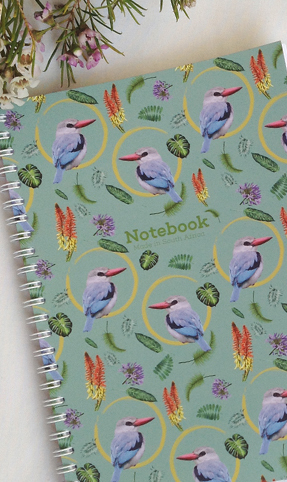 50 Lined Sheets adorned with the Mangrove Kingfisher