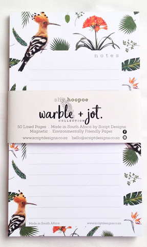 Shy Hoopoe No.2 Bloc Notepad
