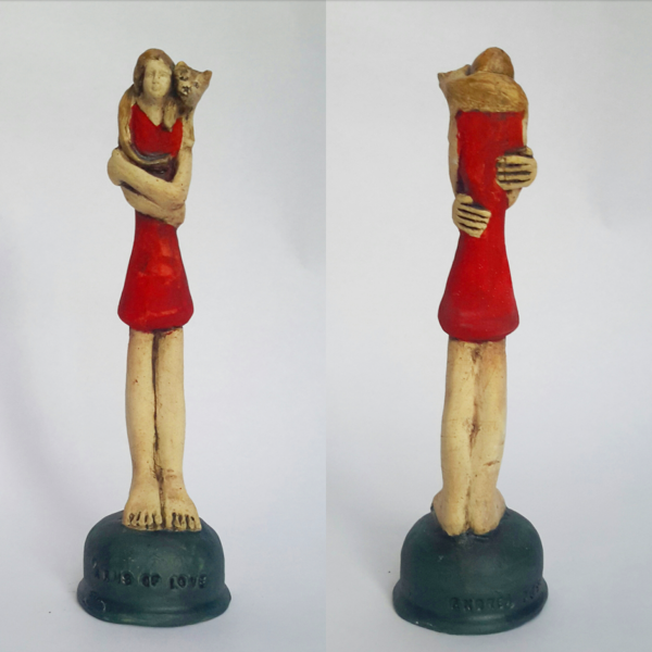Hand crafted ceramic sculpture  200 mm high