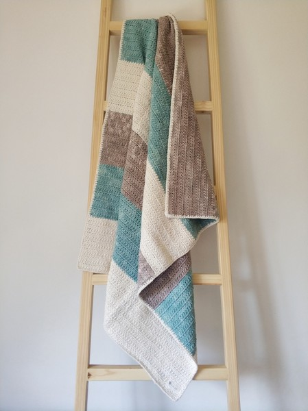 The Colour Block Blanket (Teal)