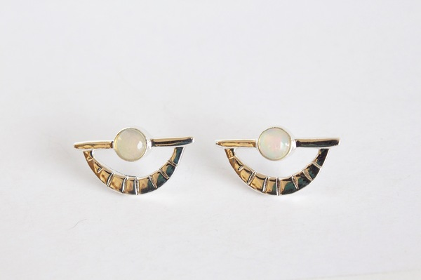 Opal Eye Earring