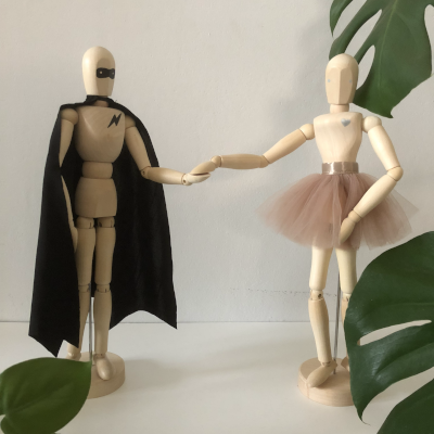 The range of Tiger Lily Mannequins includes our Superhero and Ballerina and they make an amazing decor accessory. Movable arms, legs, neck and waist make it possible to create a variety of poses. Let your mannequin be an expression of your creativity!