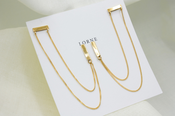 Available in silver or gold plated