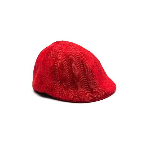 NewsBoy Flat Cap - Red Herringbone