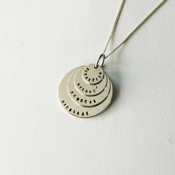 PUNCH DISC Necklaces - QUADRUPLE DISC