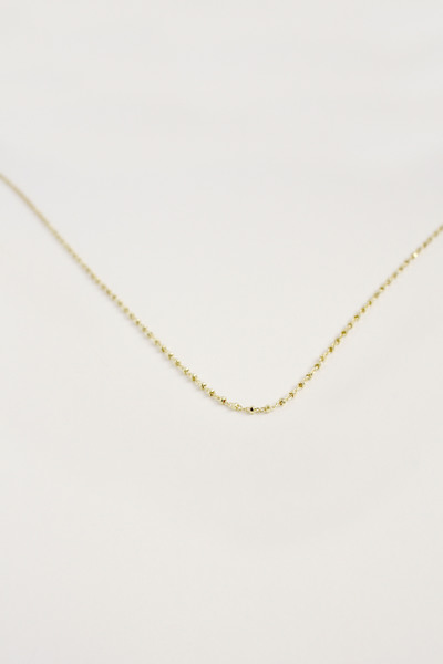 Delicate Dotted 18ct Gold Vermeil Chain
