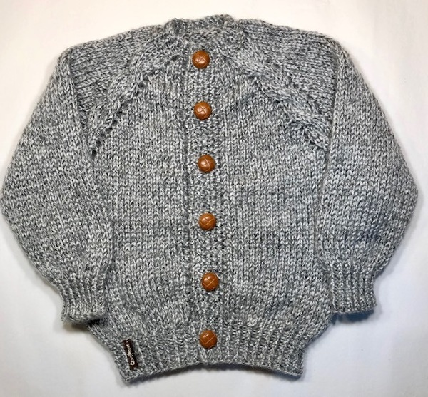 Grey Tweed Cardi