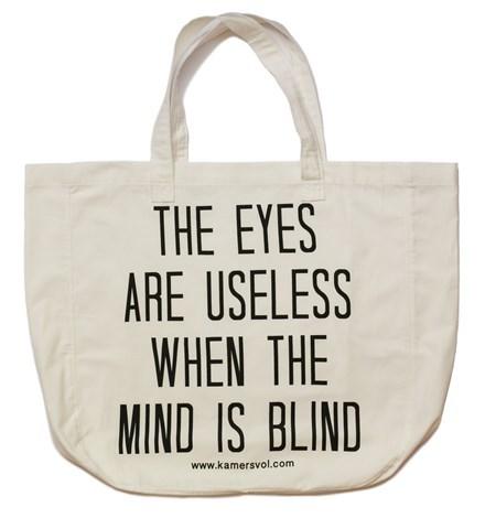 Eyes and Mind Inspirational Tote Bag - KAMERS