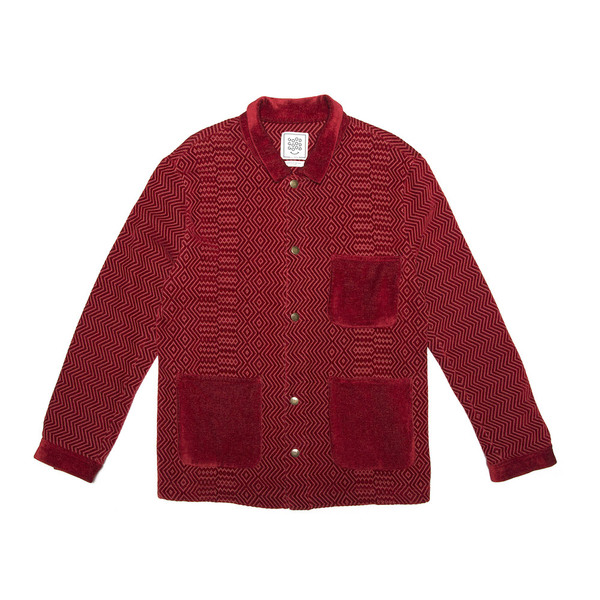 Classic 3 Pocket Jacket - Red Kuba Zag