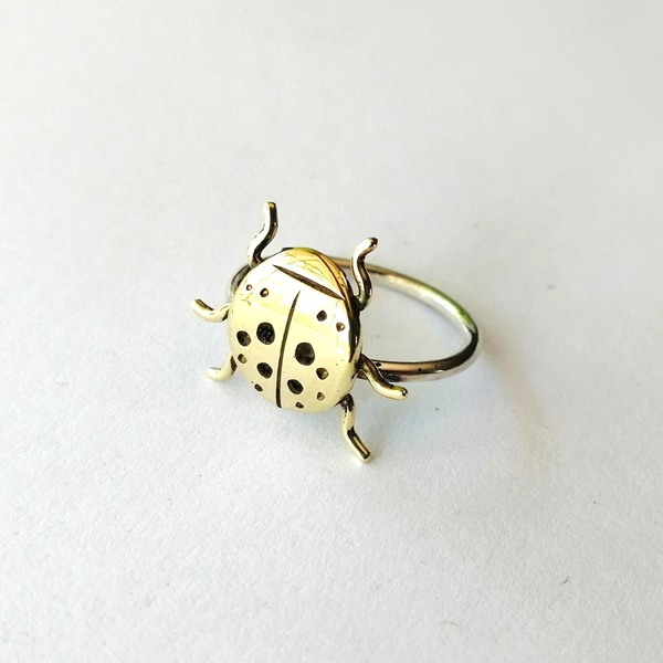 LADYBUG Rings are available in your choice of brass, copper or silver on a sterling silver band.  Every ring purchased is packaged in a jewellery box, making it ready for gifting.  As rings are custom made to your specifications, please allow 2-4 days for manufacturing and 2-3 days for delivery!  Please supply your ring size when placing an order (leave a comment in the comment box)! We highly suggest visiting your local jewellery store to find your ring size, as measuring at home can be inacurate. Also see our FAQ page for more information. *Please note that there is charge for resizing rings when incorrect sizes are supplied.